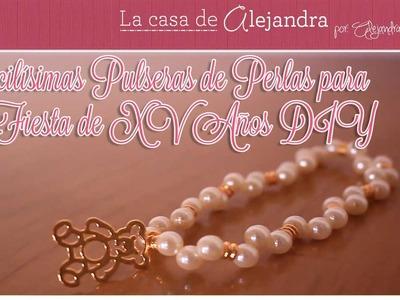 Facilísimas Pulseras de Perlas para Fiesta de XV Años DIY Alejandra Coghlan