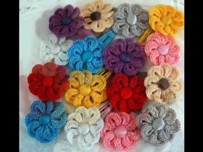 Flores de ganchillo que yo hice