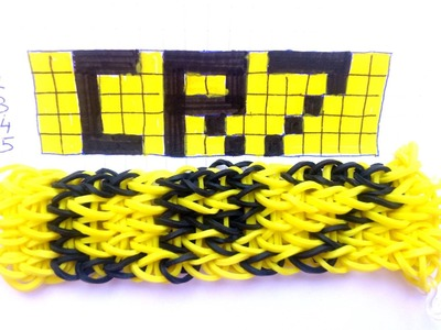 HACER PULSERAS DE GOMAS CON TU NOMBRE CR7.HOW TO MAKE RUBBER BRACELETS WITH YOUR NAME CR7