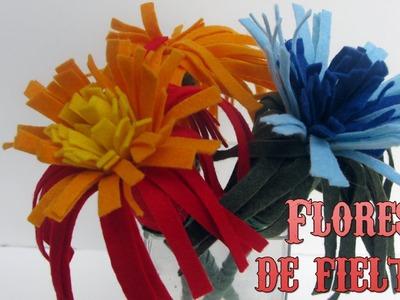 Manualidades: Flores de fieltro - Manualidades para todos