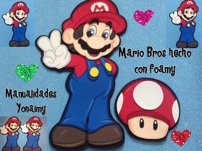 MARIO BROS HECHO CON FOAMY O GOMA EVA  PARTE  2 .
