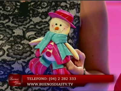 Muñeco de Nieve para el Árbol | Curso de Foamy Aprendiendo en casa | Manualidades queternura.com