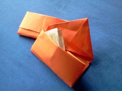 Paper purse - Como hacer un monedero de papel