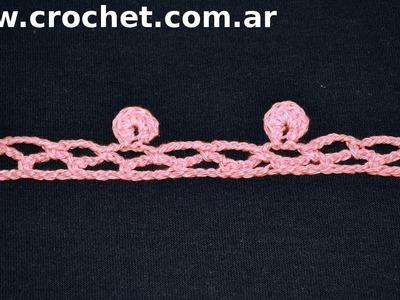 Puntilla N° 55 en tejido crochet tutorial paso a paso.