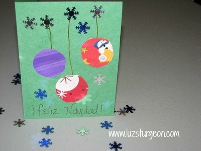 Tarjetas de Navidad ¡súper fáciles!