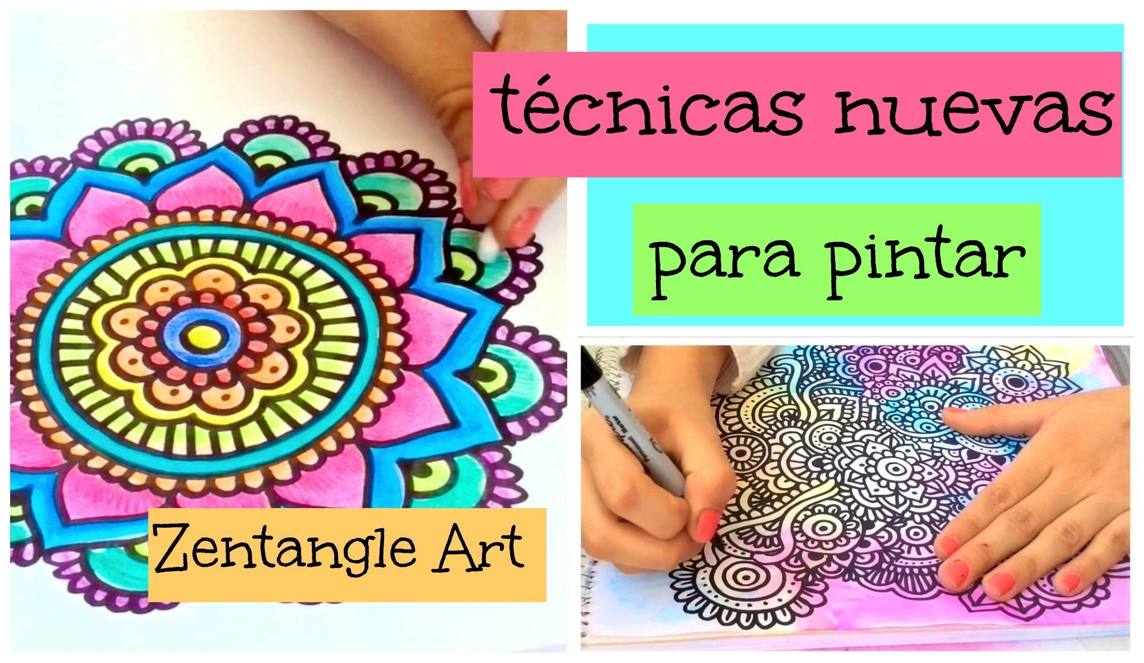 Técnicas para pintar Zentangle Art | DIY