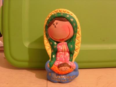 Tutorial para pintar una Virgen de Guadalupe en cerámica.
