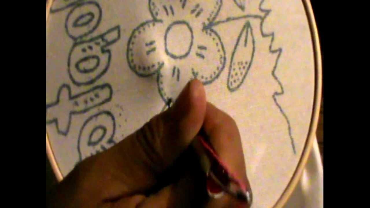 A bordar  con aguja artesanal   magica con marimur  155
