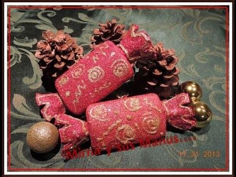 ADORNO NAVIDEÑO RECICLANDO.   Christmas ornament recycling