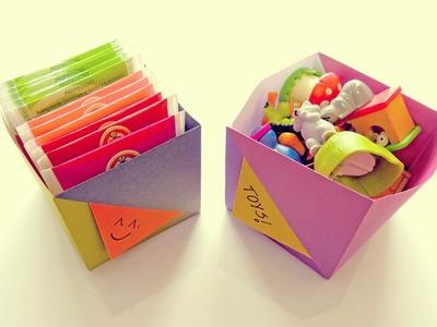 Caja en Origami | Manualidades - DIY