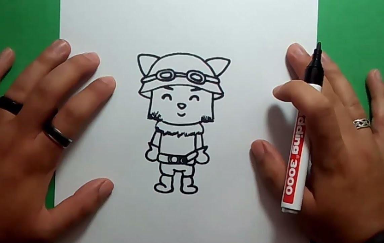 Como dibujar a Teemo paso a paso - League of Legends | How to draw Teemo - League of Legends