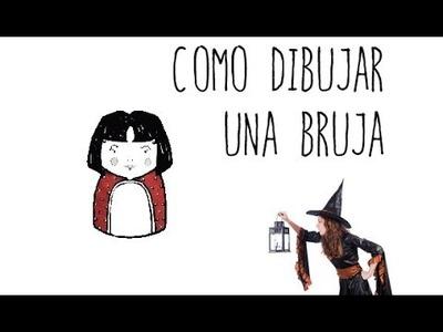 Como dibujar una Bruja - dibujos de Halloween para niños