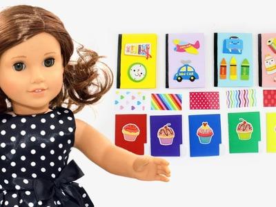Cómo hacer folders, papel  de colores y cuaderno - Manualidades para muñecas