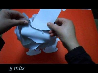 Como hacer lampara de papel