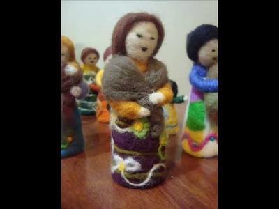 ¿Cómo hacer muñequitas de vellón?