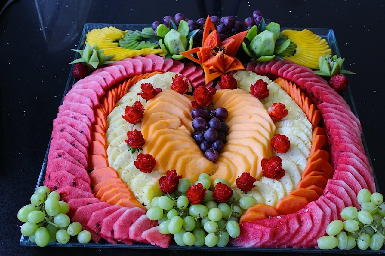 Cómo hacer un corazón de fruta picada para fiesta #3 - arte con fruta - La receta de la abuelita