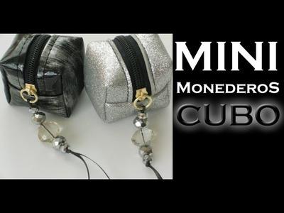 Cómo hacer un Mini Monedero CUBO. TUTORIAL. Inerya viris