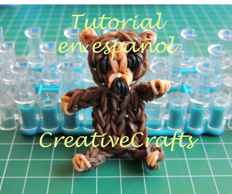 Como hacer un oso de gomitas. Rainbow Loom Bear.