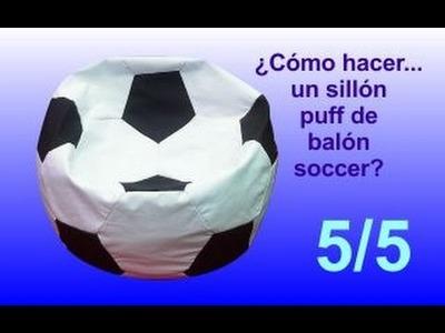 ¿Cómo hacer.  un sillón puff balón soccer? - 5.5 Rellenar el puff