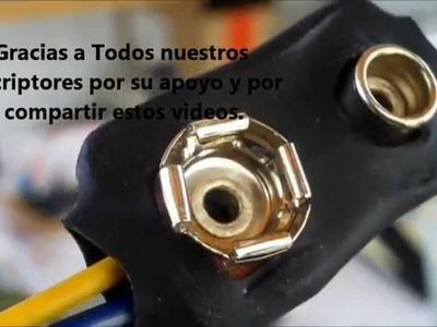 Como Reciclar Conector Para Pilas De 9 Volts