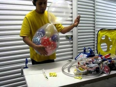Decoracion con globos - Como hacer un payaso de globos Parte 1