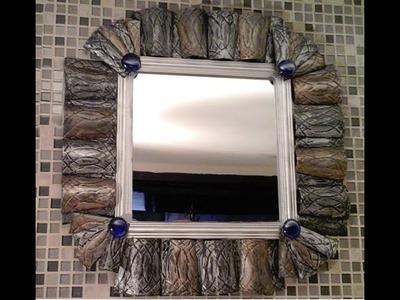 DIY Espejo con vasos desechables. Mirror out of foam cups