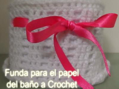 Funda. bolsito para el papel del baño a Crochet- Ganchillo