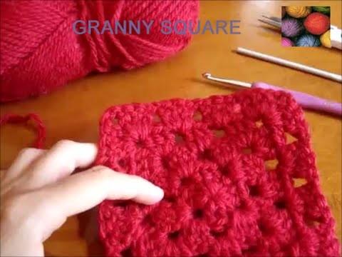 Granny square básico (un color)