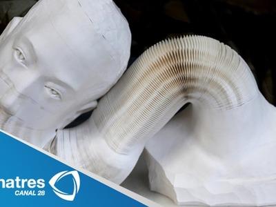 Impresionantes esculturas hechas de papel. Obras de Li Hongbo