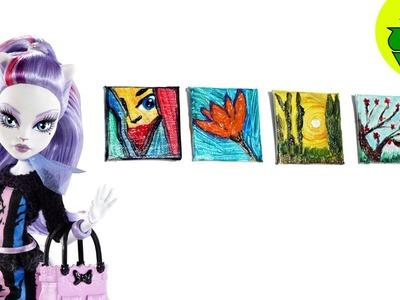Manualidades para muñecas: Cómo hacer un lienzo de pinturas para muñecas