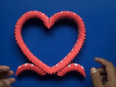 Origami 3D Corazon Diseño 2