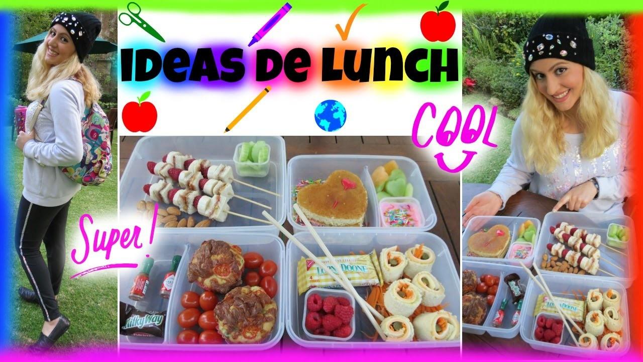 REGRESO A CLASES! Ideas De Lunch!!!