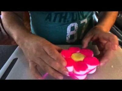 Brocheta de bombon en forma de flor