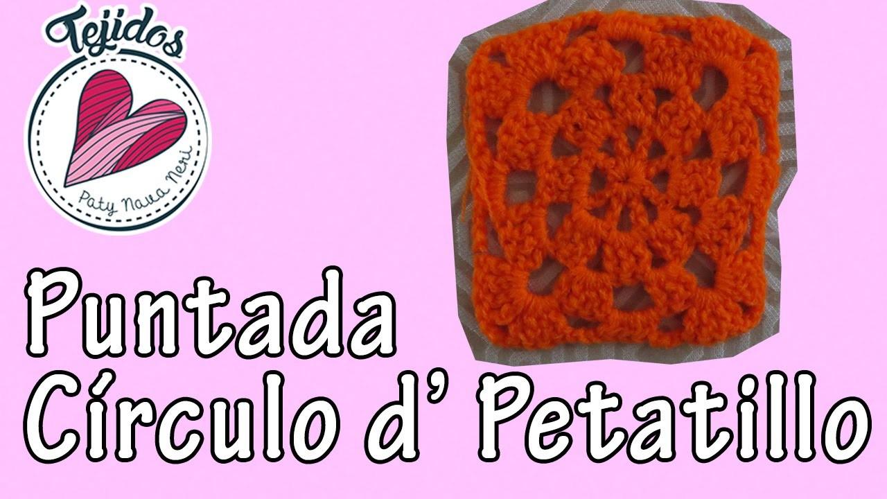 """""""Círculo en petatillo"""" Tejidos en cuadrito Cap. 3"""