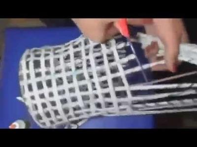 Como hacer cesto con periodicos - Manualidades faciles