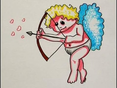 Cómo hacer el dibujo de Cupido
