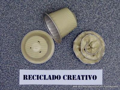 Cómo hacer flores con cápsulas de café - How to make flowers out of recycled coffee capsules