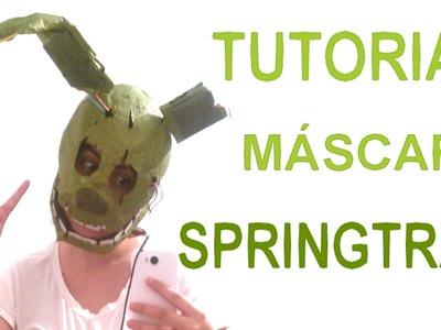 Cómo hacer la máscara de Springtrap - FNaF 3