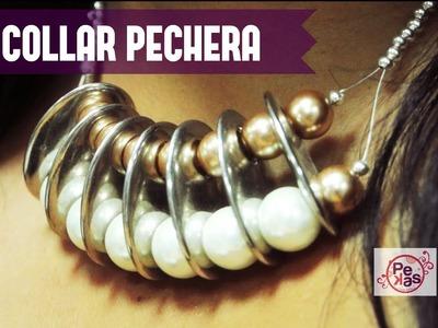 Como Hacer un Collar Pechera de Perlas : Pekas Creaciones