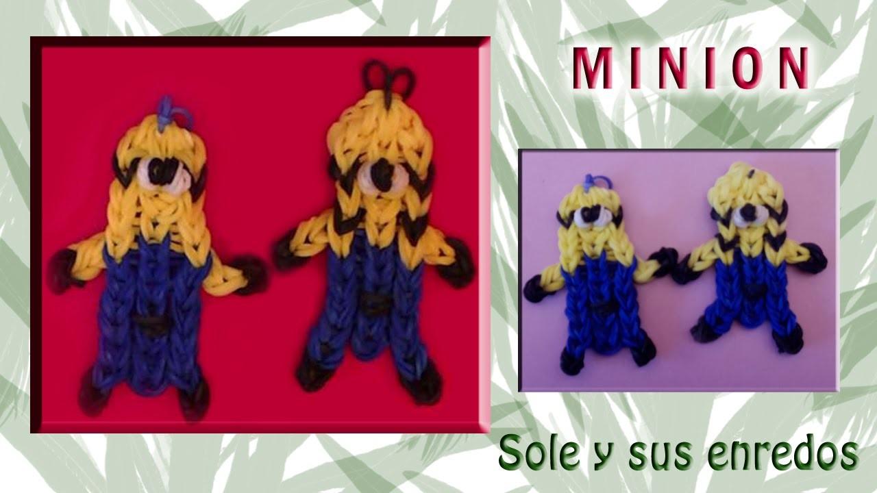Cómo hacer un muñeco Minion con gomitas elásticas