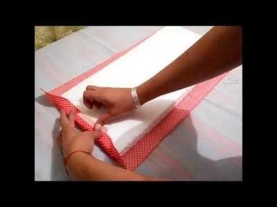 Cómo hacer un ORGANIZADOR para bobinas carretes de máquina de coser TUTORIAL Inerya viris