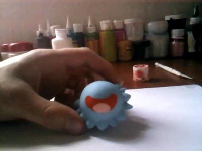 Como hacer un pokemon- Koromori pokemon blanco y negro