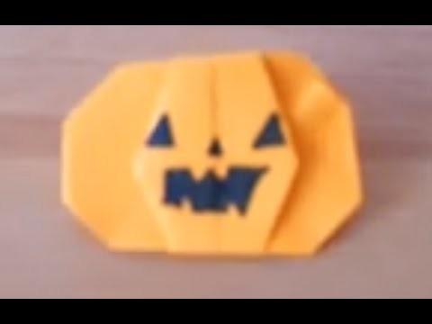 Cómo hacer una calabaza de papel (papiroflexia)