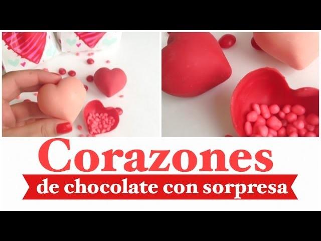 Corazon de chocolate con sorpresa
