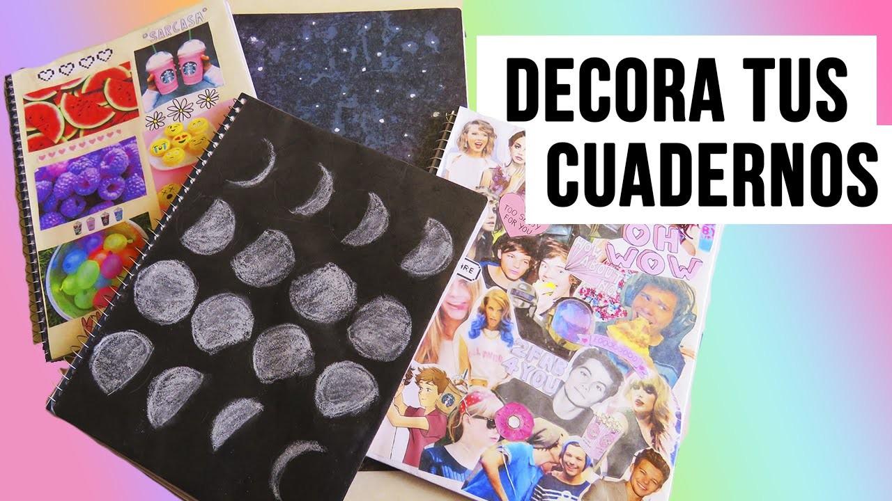 DECORA TUS CUADERNOS | REGRESO A CLASES 2015♡ (4 ideas)