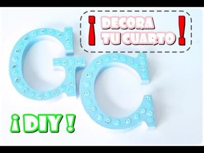 DIY | ¡Letras decorativas super fáciles! ♥ @MiyouDz ♥