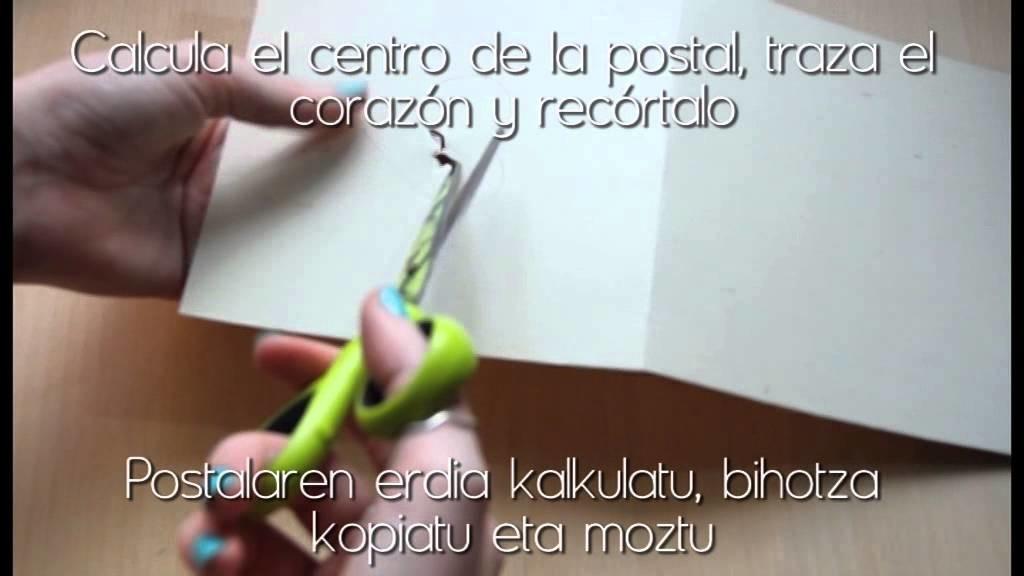 DIY    Postal corazón de quilling. Quilling-eko bihotz postala    HaizegoaYT