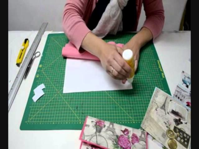 Estuche para lapices con funda plástica y servilleta-manualidad para niños