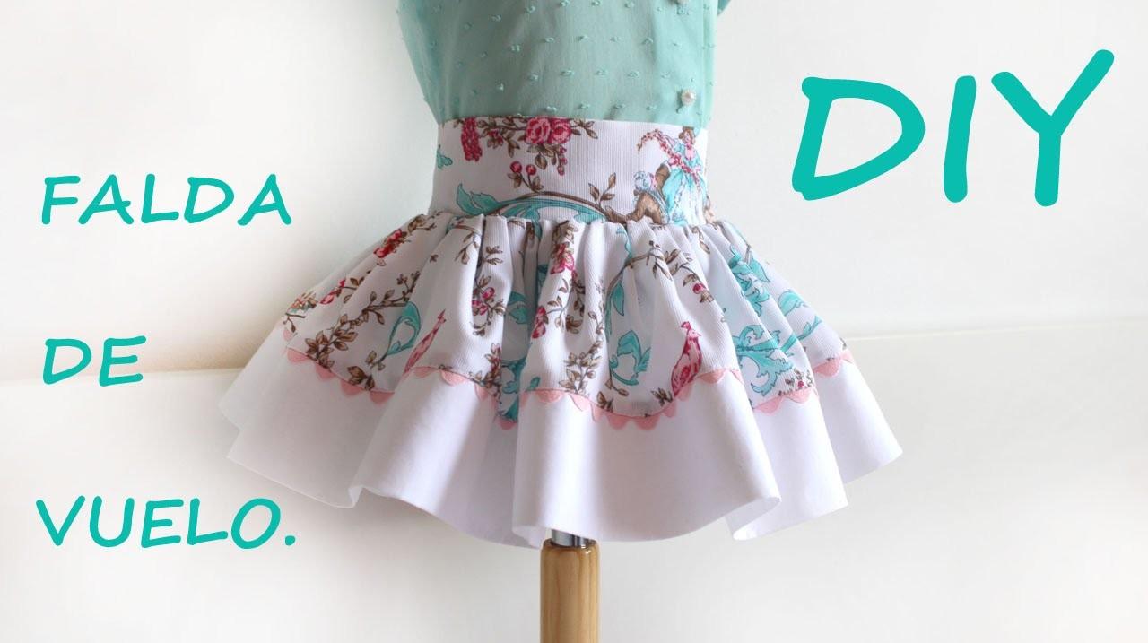 Falda de vuelo para niña. Como hacer ropa infantil.