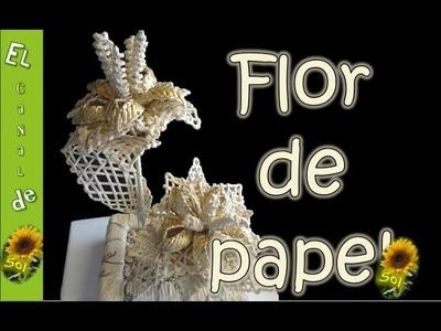 Flor de papel periodico